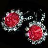 Сережки Санні (рожеві, червоні, фіолетові)