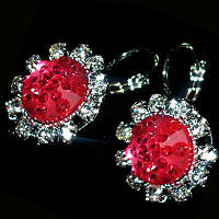 Сережки Санні (рожеві, червоні, фіолетові), фото 1