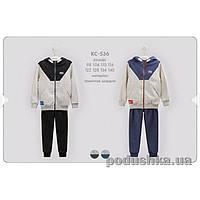Детский спортивный костюм для мальчика Bembi КС536 трикотаж  Размер 134, меланж, синий