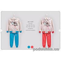 Детский спортивный костюм для девочки Bembi КС559 трикотаж  Размер 134, коралловый