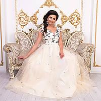 """Женское вечернее, свадебное платье длинное пышное """"Азалия"""", фото 1"""