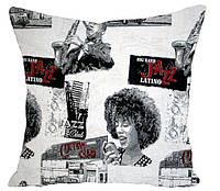 Декоративная подушка Джаз серый