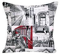Декоративная подушка Вокзальчик
