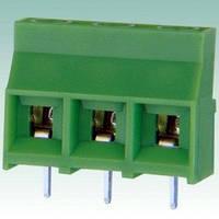 Клеммник винтовой DC 950-9.5-03P шаг 9,5мм Зеленый