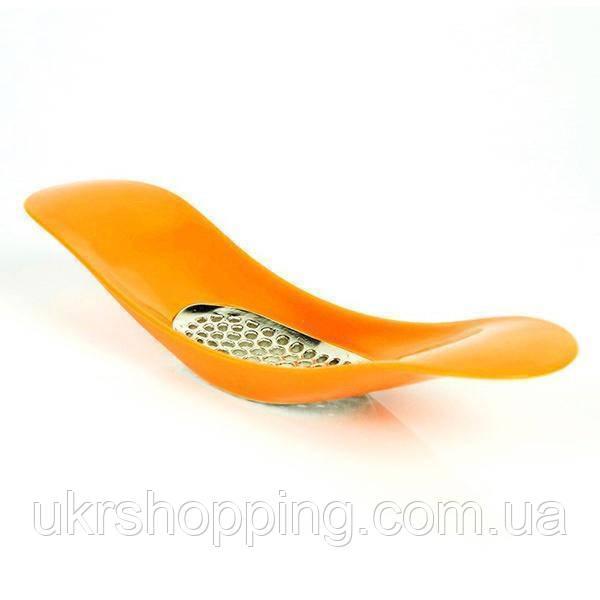 🔝 Пресс измельчитель для чеснока (чеснокодавка) - оранжевая | 🎁%🚚