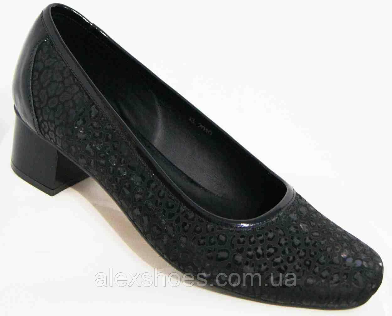 Туфли женские большого размера из натуральной кожи от производителя модель В5252-7