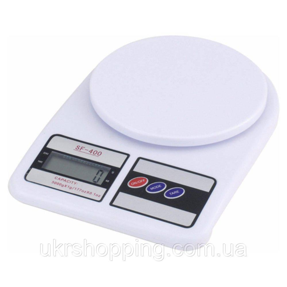 🔝 Весы электронные. Надёжные, весы для еды, Kitchen Scale SF 400, кухонные, доставим по Украине | 🎁%🚚, фото 1