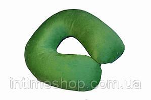 🔝 Подушка-подголовник для перелета Memory Foam Travel Pillow - Зеленая, с доставкой по Киеву и Украине | 🎁%🚚