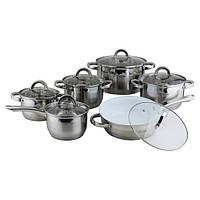 Набор посуды 12 предметов керамика (полые ручки)