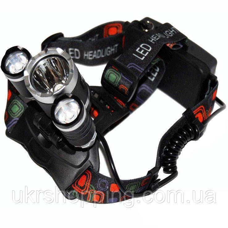 ✅ Налобный аккумуляторный фонарь Police BL-RJ3000-T6, фонарик на голову,-, налобный фонарь для рыбалки
