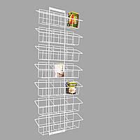 Сетчатый дисплей на сетку на семь полок с ячейками