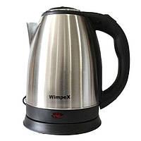 🔝 Дисковый электрочайник, Wimpex WX2831, 2 л., из нержавеющей стали | 🎁%🚚
