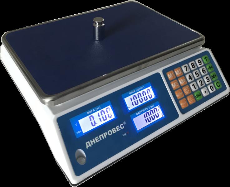 Торговые весы без стойки Днепровес ВТД-Л1 30 кг (230х330мм)