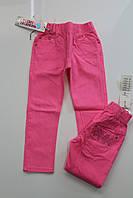 Котоновые брюки для девочек 4, 10 лет-малиновый
