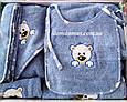 """Махровых набор для купания малышей голубой  (5 предметов) """"Мишки"""" Philippus Турция, фото 2"""