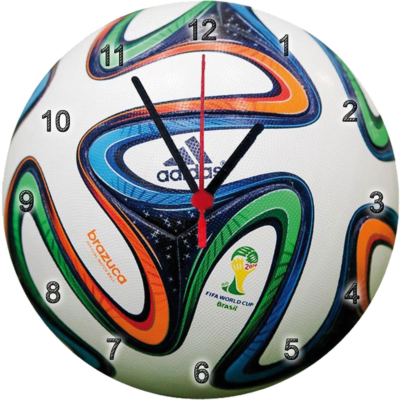 """Дитячі настінні годинники МДФ - """"М'яч brazuca"""""""