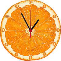 "Настенные часы МДФ кухонные ""Апельсин"" кварцевые , фото 1"