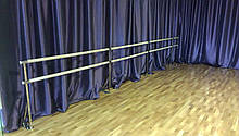 Станок хореографический (балетный) нержавеющий крепеж в пол, фото 3