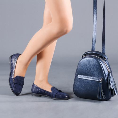 Балетки кожаные с замшевым носком Размерный ряд от 33 до 41