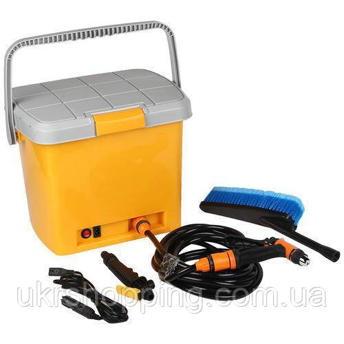 🔝 Автомобильная минимойка, от прикуривателя, High Pressure Portable Car Washer, портативная   🎁%🚚