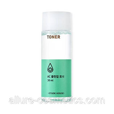 Тоник для проблемной кожи лица Etude House AC Clean Up Toner 30мл
