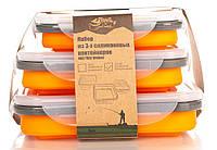 Набор из 3х силиконовых контейнеров Tramp (400/700/1000ml) orange TRC-089-orange, фото 1