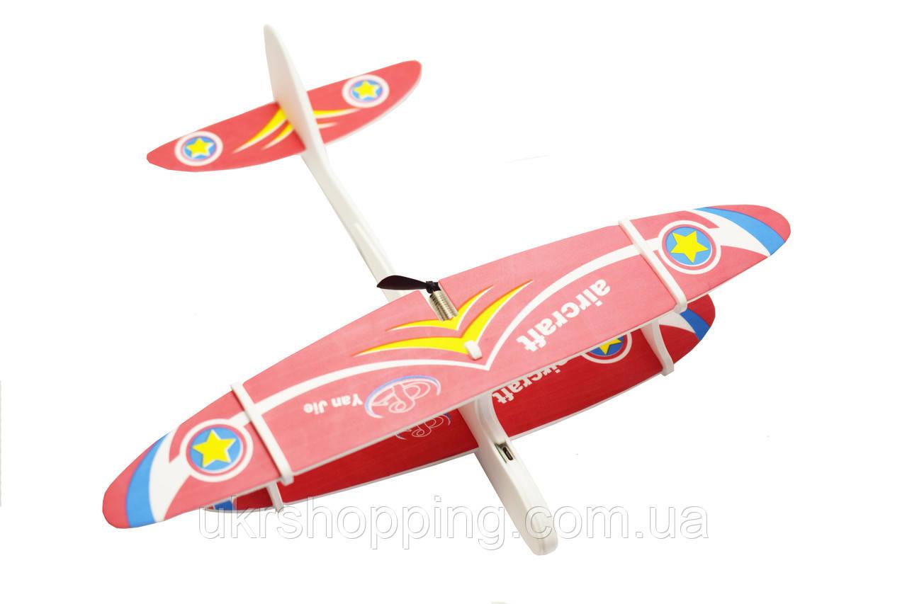 🔝 Метательный планер, самолет детский, на USB Aircraft, цвет - красный, самолёт из пенопласта | 🎁%🚚