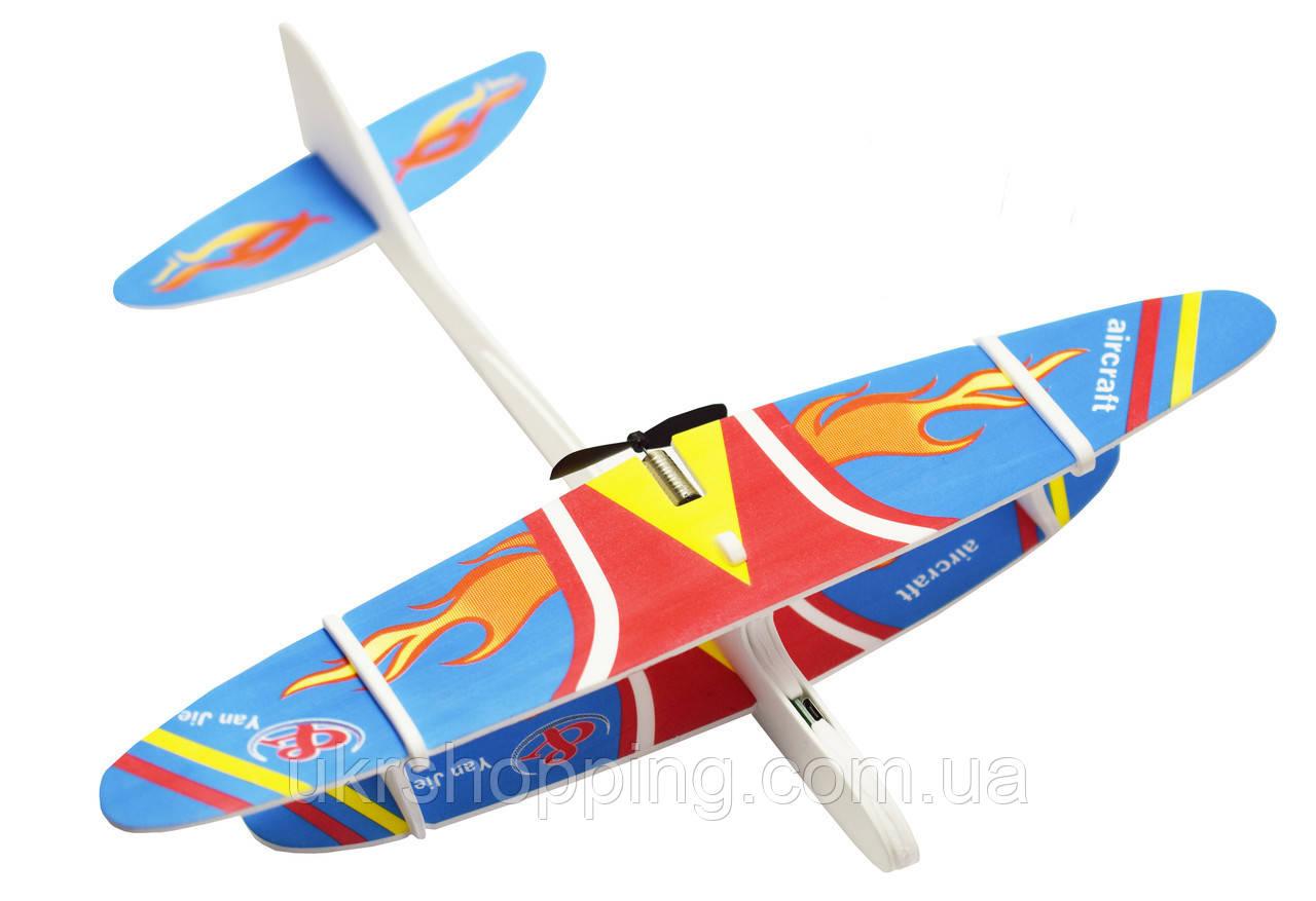 🔝 Самолет из пенопласта, на USB Aircraft, метательный, синий, игрушка самолет, самолеты для детей   🎁%🚚