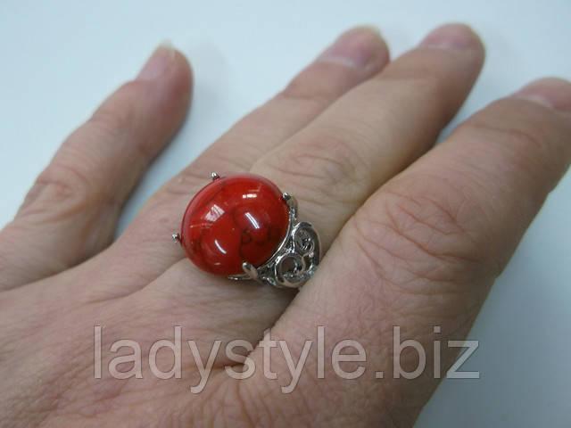 украшения с кораллом кольцо перстень купить натуральный  коралл