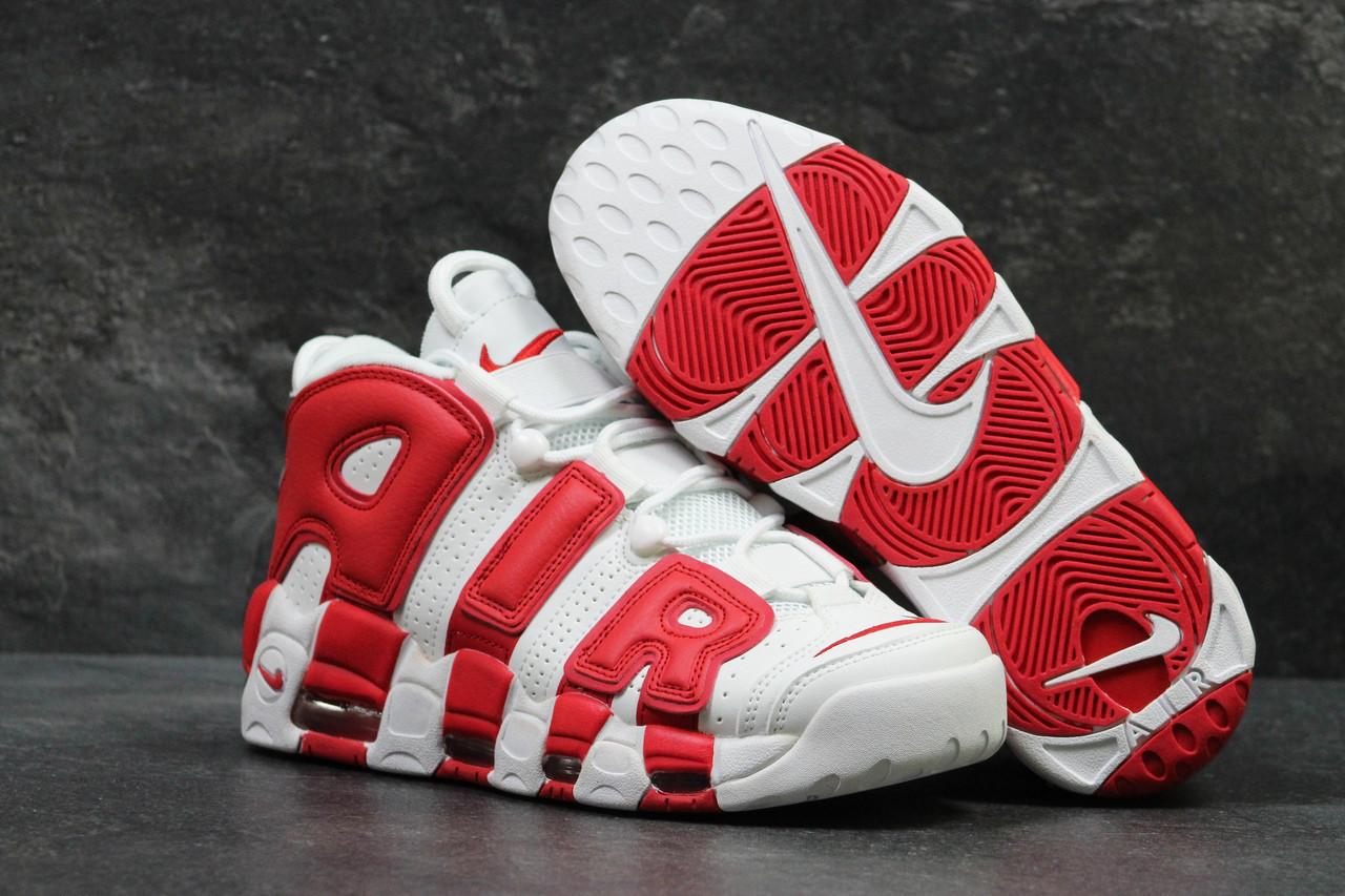 1b9cd734 Кроссовки мужские белые с красным Nike Air More Uptempo 96 5700 (найк  чоловічі кросівки кроссы