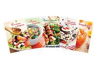 Книга для записи А5 кулинарных рецептов обожка тыердый переплет 80 лист
