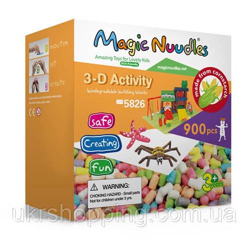 🔝 Мягкий конструктор, липучка, Magic Nuudles, для детей, на 900 деталей | 🎁%🚚