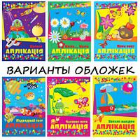 Аппликация формат А5 4 листа Обложка мелованная полноцветная ( 8 видов )