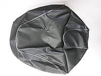 Чехол сиденья HONDA DIO AF-62/68 NEW темно-серый, серебристый кант JOHN DOE