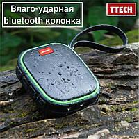 Портативная влагозащитная колонка Bluetooth TTech S9, фото 1