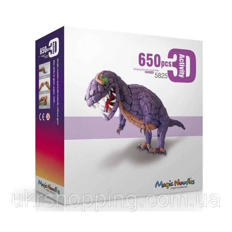 🔝 Мягкий конструктор, липучка, Magic Nuudles, 650 деталей - динозавр | 🎁%🚚