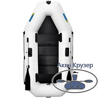 Лодка надувная пвх omega Ω 260 LS ( гребная двухместная лодка со сланью), фото 1