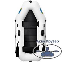 Лодка надувная пвх omega Ω 260 LS ( гребная двухместная лодка со сланью)