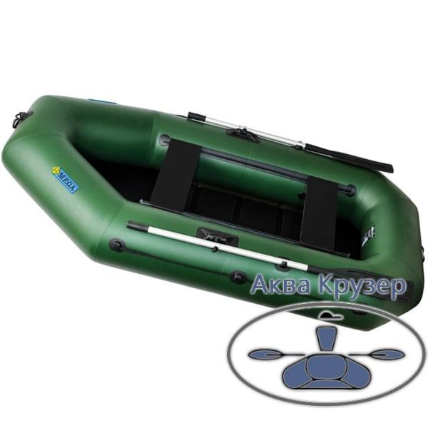Двухместная пвх omega Ω 260 LS (PS) ( надувная гребная лодка с подвижными сидениями + слань)