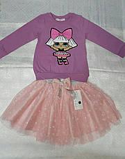 Модный реглан для девочек 92-98-104-110-116 роста Кукла LOL, фото 3