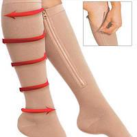🔝 Компрессионные носки, Zip Sox, носки от варикоза, размер S/M | 🎁%🚚, фото 1