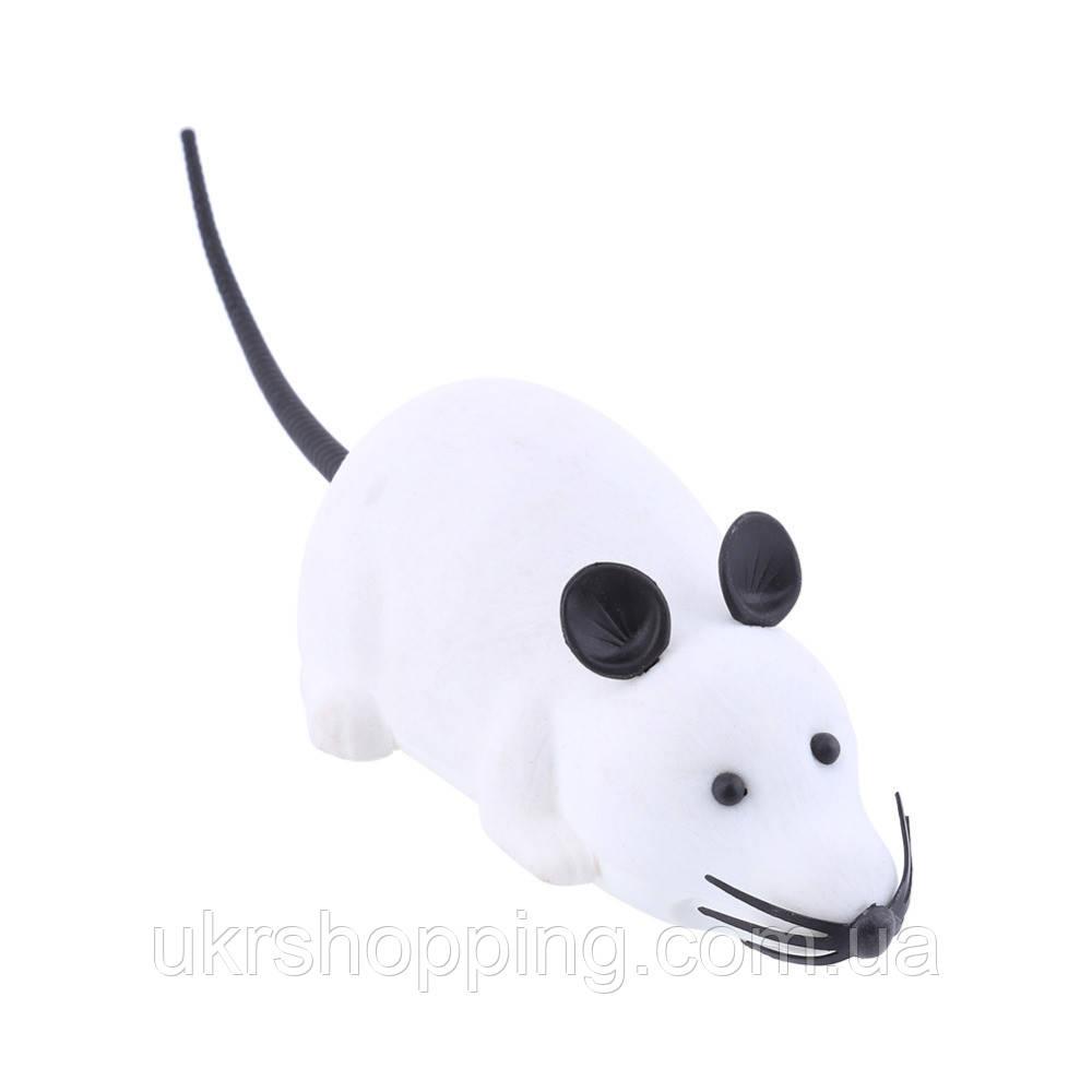 🔝 Игрушка для домашних питомцев на радиоуправлении Мышь - белая | 🎁%🚚