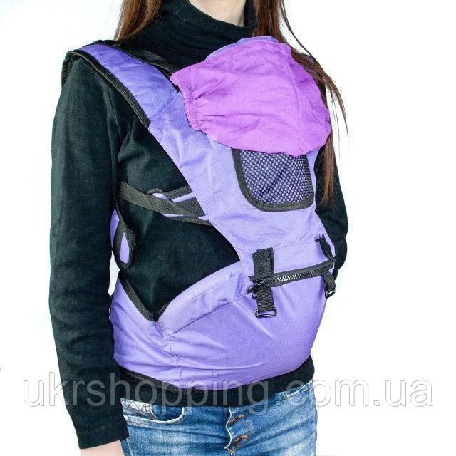 🔝 Рюкзак-кенгуру для переноски детей Hip Seat (Хипсит) - фиолетовый, слинг для ребенка, с доставкой по Украине | 🎁%🚚