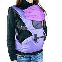 🔝 Рюкзак-кенгуру для переноски детей Hip Seat (Хипсит) - фиолетовый, слинг для ребенка, с доставкой по Украине | 🎁%🚚, фото 1
