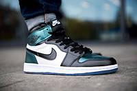 Чоловічі кросівки Nike Air Jordan 1 Retro (Найк) репліка топ