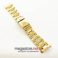 Стальной браслет Rolex daytona gold 22мм (06298)