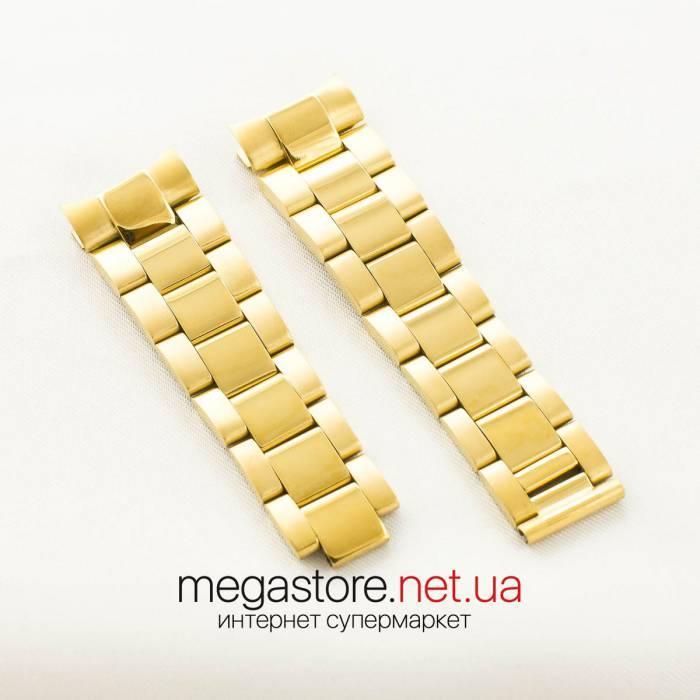 Стальной браслет Rolex daytona gold 22мм (06297)