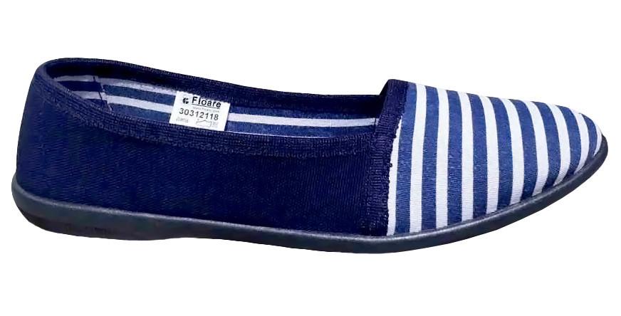 Мокасини Віра (в смужку сині)