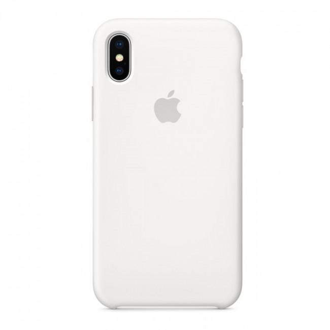 Чехол для iPhone Xs MAX Silicone case White