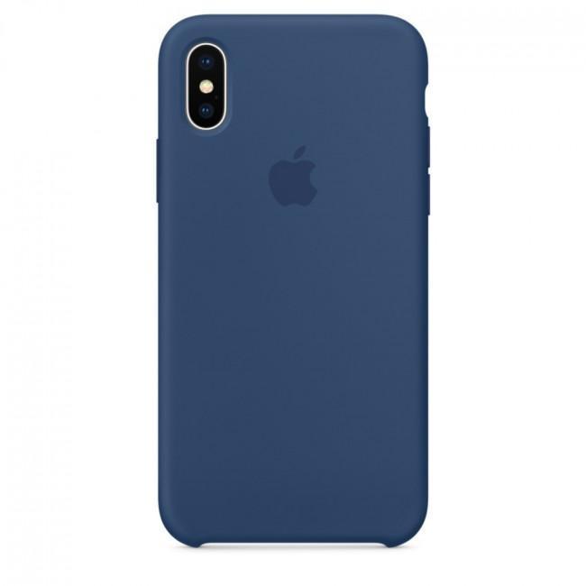 Чехол для iPhone Xs MAX Silicone case Cobalt Blue